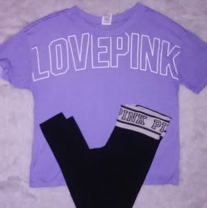 PINK VS Outfit Size small t shirt legging